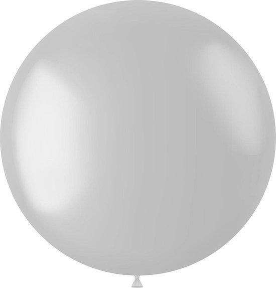 Witte Ballon Metallic Pearl White 78cm