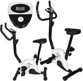 H.R production Hometrainer - Fitness fiets  Inclusief computer - Anti slip pedalen - Zwart Wit