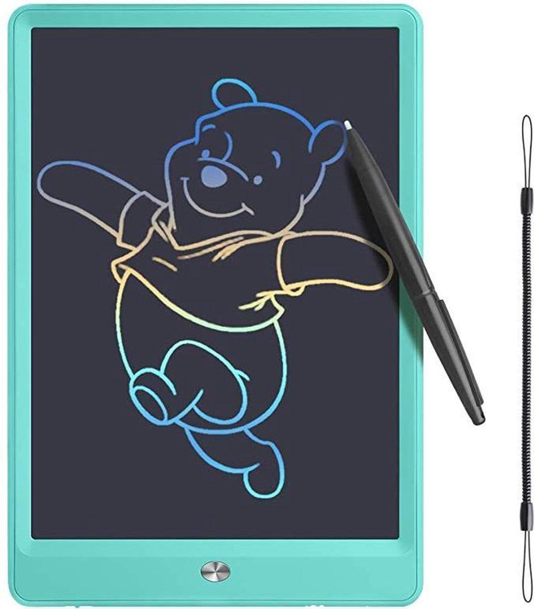 Tekentablet - Lcd-schrijfbord met kleurrijk scherm, 10 inch wisbaar tekenblok Doodle board, grafische tablet tekenbord met schakelslot, cadeau voor kinderen en volwassenen (10 inch, blauw)