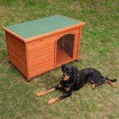 Kelly platdak-hondenhok met kunststof deur (104*66*70) - hondenhok – hondenhok buiten – hondenhok hout  - hondenhok xl - Hondenhok grote honden – hondenhok buiten grote honden