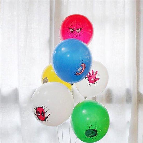Avengers Ballonnen - 12 Stuks - Marvel - Spiderman - Iron Man - Hulk - Thor - Deadpool - Ballon Film