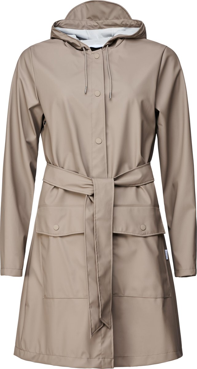 Rains Belt Jacket Taupe Dames - Maat S/M