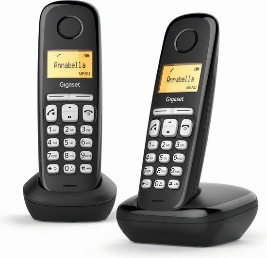 Gigaset A220 Duo v2 - Duo DECT telefoon - Zwart