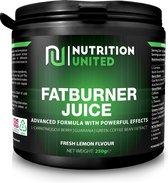 Nutrition united fatburner juice fresh lemon