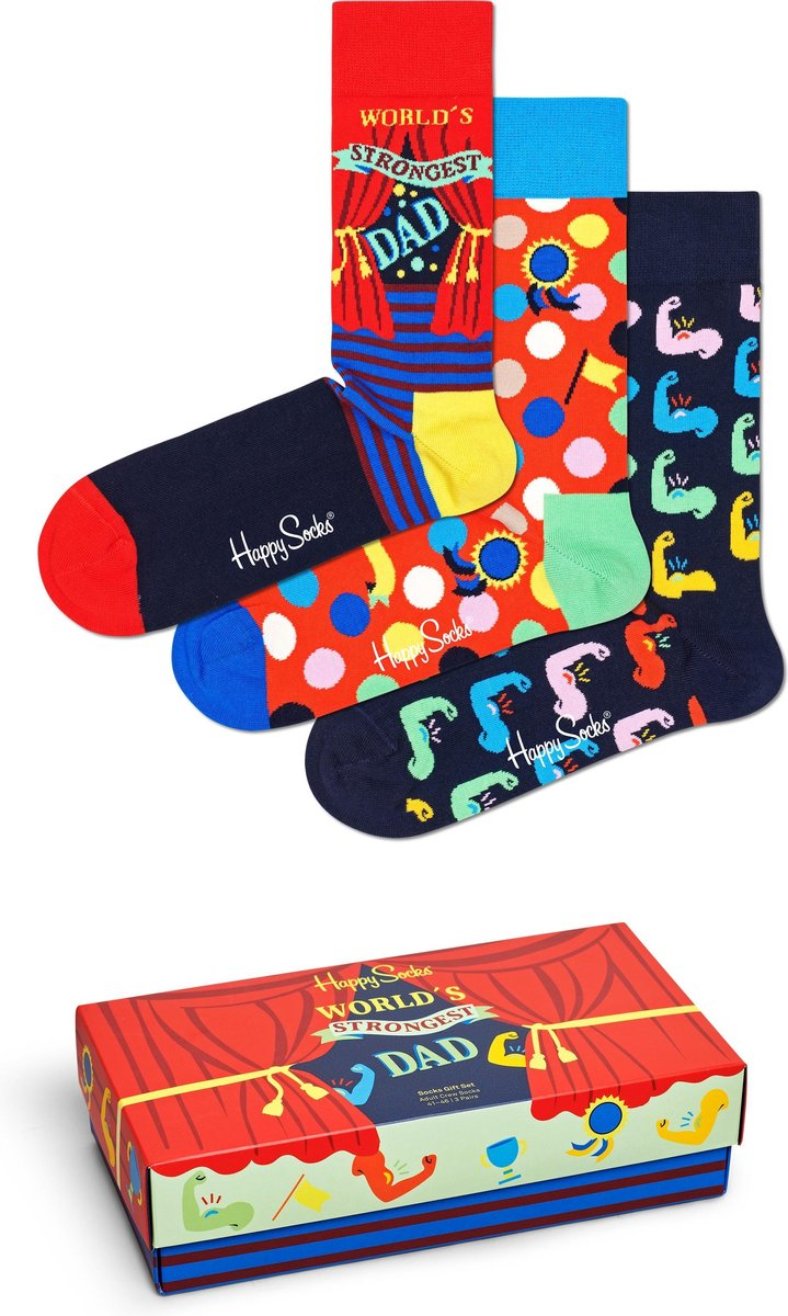 Happy Socks Vaderdag 3P Giftbox - Maat 36-40