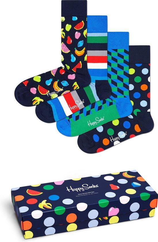 Happy Socks XNAV09-6600 Navy 4-pack Gift Box - Maat 41-46