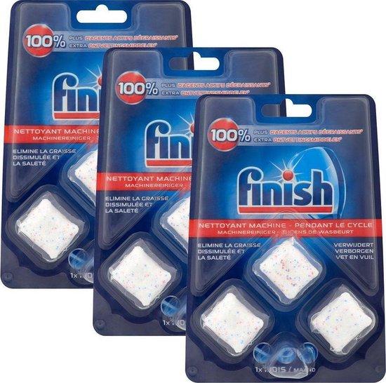 Finish Vaatwasmachinereiniger tijdens wasbeurt - 9 tabletten (3x3)