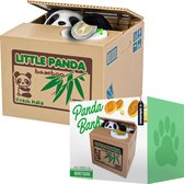MikaMax Panda Spaarpot - Spaarpot - Stelende pandabank - Stimulans om te Sparen - Elektrische Spaarpot voor Dierenvrienden
