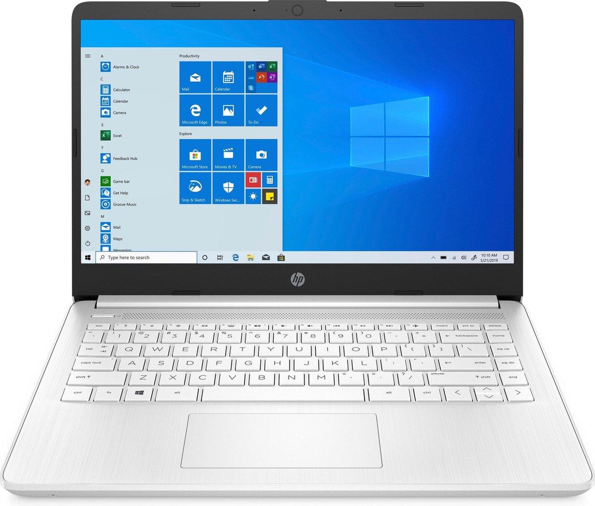 """HP 14s-fq0038nd DDR4-SDRAM Notebook 35,6 cm (14"""") 1920 x 1080 Pixels AMD Ryzen 3 4 GB 128 GB SSD Wi-Fi 5 (802.11ac) Windows 10 Home S Wit"""