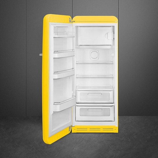 Smeg FAB28LYW3 combi-koelkast Vrijstaand 270 l A+++ Geel