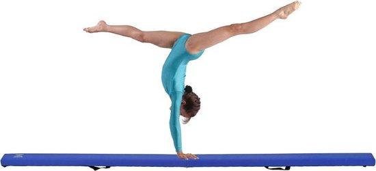 Dexters® Evenwichtsbalk   Turnbalk   Balk Evenwicht   Vloerbalk   Evenwichtsplank   Turnen   210 cm   Blauw