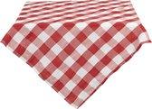 Clayre & Eef Vierkant Tafelkleed 140*200 cm Rood Katoen / polyester Rechthoek Tafellaken Tafellinnen Tafeltextiel