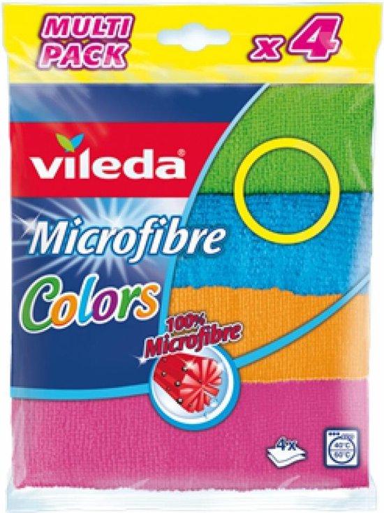 Microvezeldoeken Vileda Colors 4 Microactive Multipack VILEDA