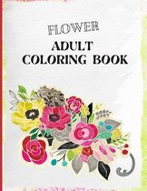Flower Adult Coloring Book