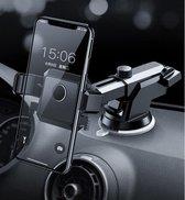 Garpex® Auto Telefoonhouder met Zuignap – 2 in 1 Houder Auto Smartphone – 360° graden draaibaar - iPhone Android – Zwart