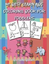 My Best Learn ABC Coloring Book for Toddlers