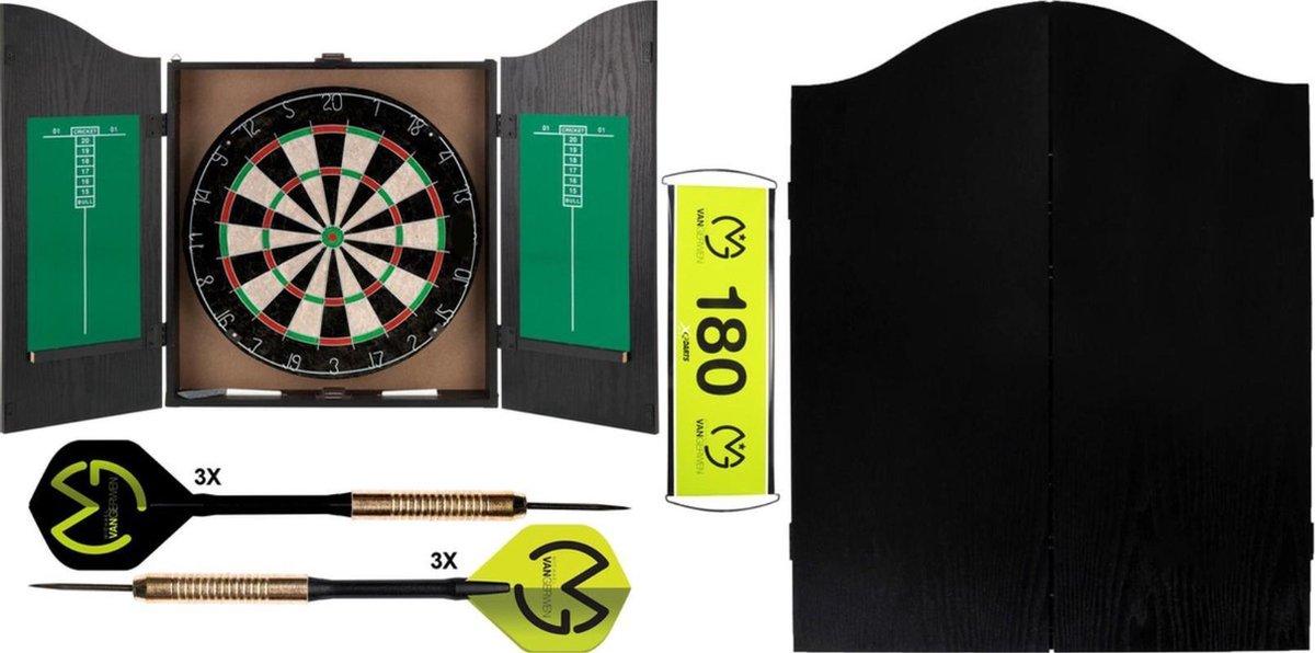XQ Max - Michael van Gerwen - Home darts centre - dart kabinet - inclusief - dartpijlen - dartbord - en accessoires - kabinet - starter set