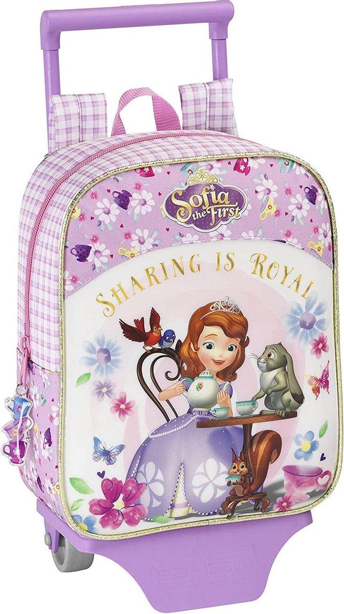 Disney Sofia Rugzak Met Trolley - 34 cm - School rugzak- Rugtas voor peuters - Kleuters - Kinderen