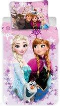 Disney Frozen 3 Friends - Dekbedovertrek - Eenpersoons - 140 x 200 cm - Polyester