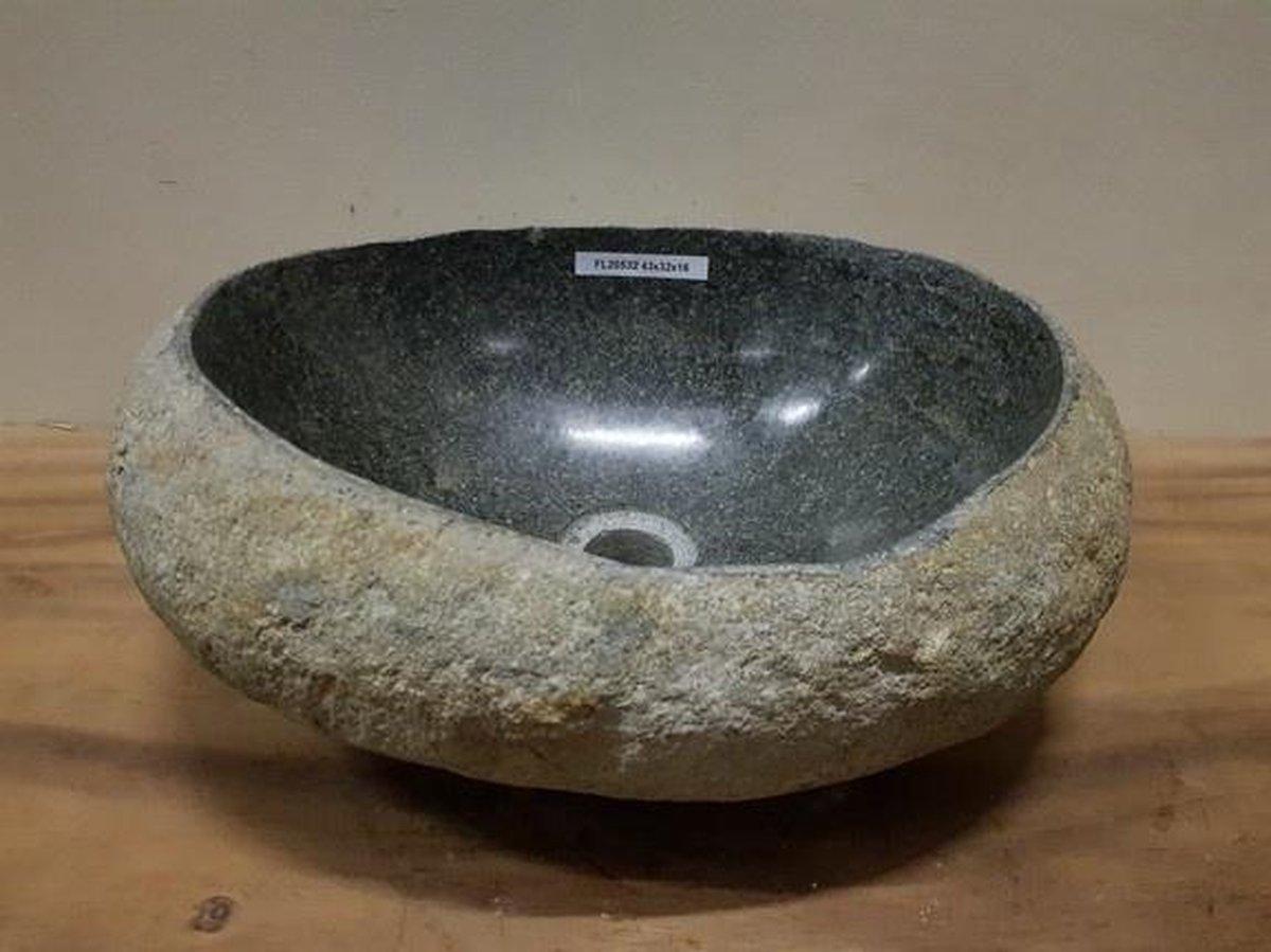 Waskom natuursteen FL20532 - 43x32x16cm