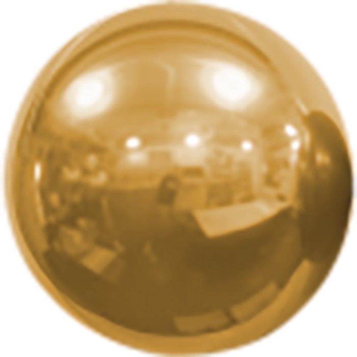 Folieballon Geel Spiegelend Rond 40 cm