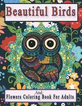 Beautiful Birds And Flowers Coloring Book For Adults