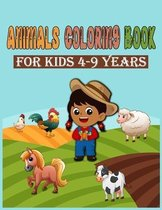 animals coloring book for kids 4-9 years