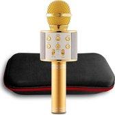 Bluetooth Karaoke Microfoon  - Draadloos met HiFi Speaker Box - Set voor Android/iPhone/Apple - Goud