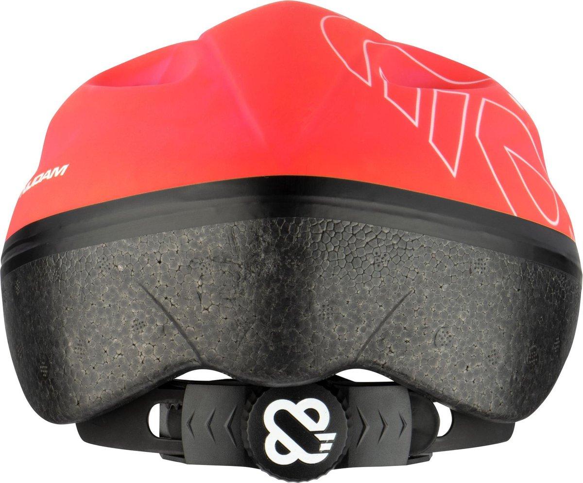 Nijdam Junior Helm - Raging Red - Rood/Zilvergrijs