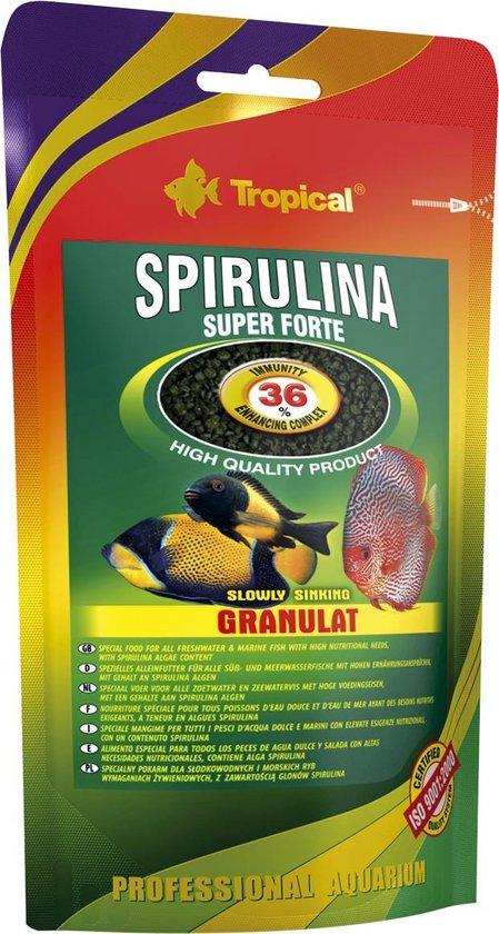Tropical Super Forte Spirulina Mini Granulaat 36% | 150ml | Visvoer
