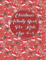 Christmas Activity Book for Kids Age 4-8