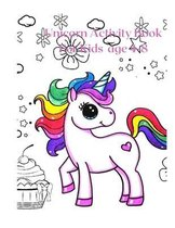 Unicorn Activity Book For Kids age 4-8 .