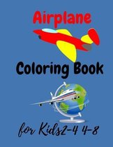 Airplane Coloring Book For Kids Ages 2-4 4-8