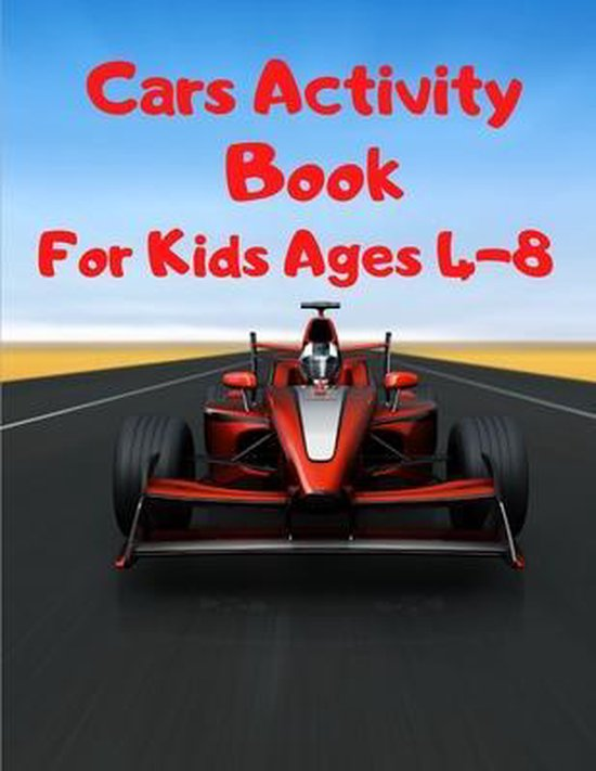 Cars Activity Book For Kids Ages 4-8