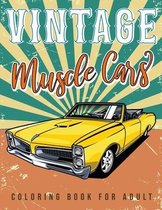Vintage muscle cars coloring book for adult