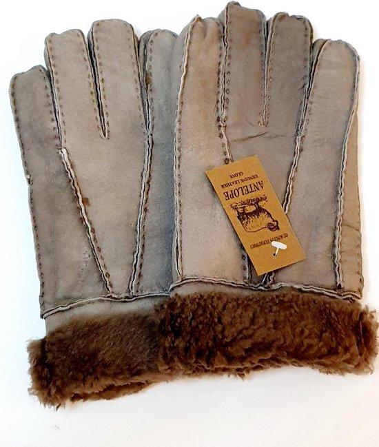 Lederen handschoenen Schapenvacht lamsvacht handschoenen Heren handschoenen One Size lichtbruin