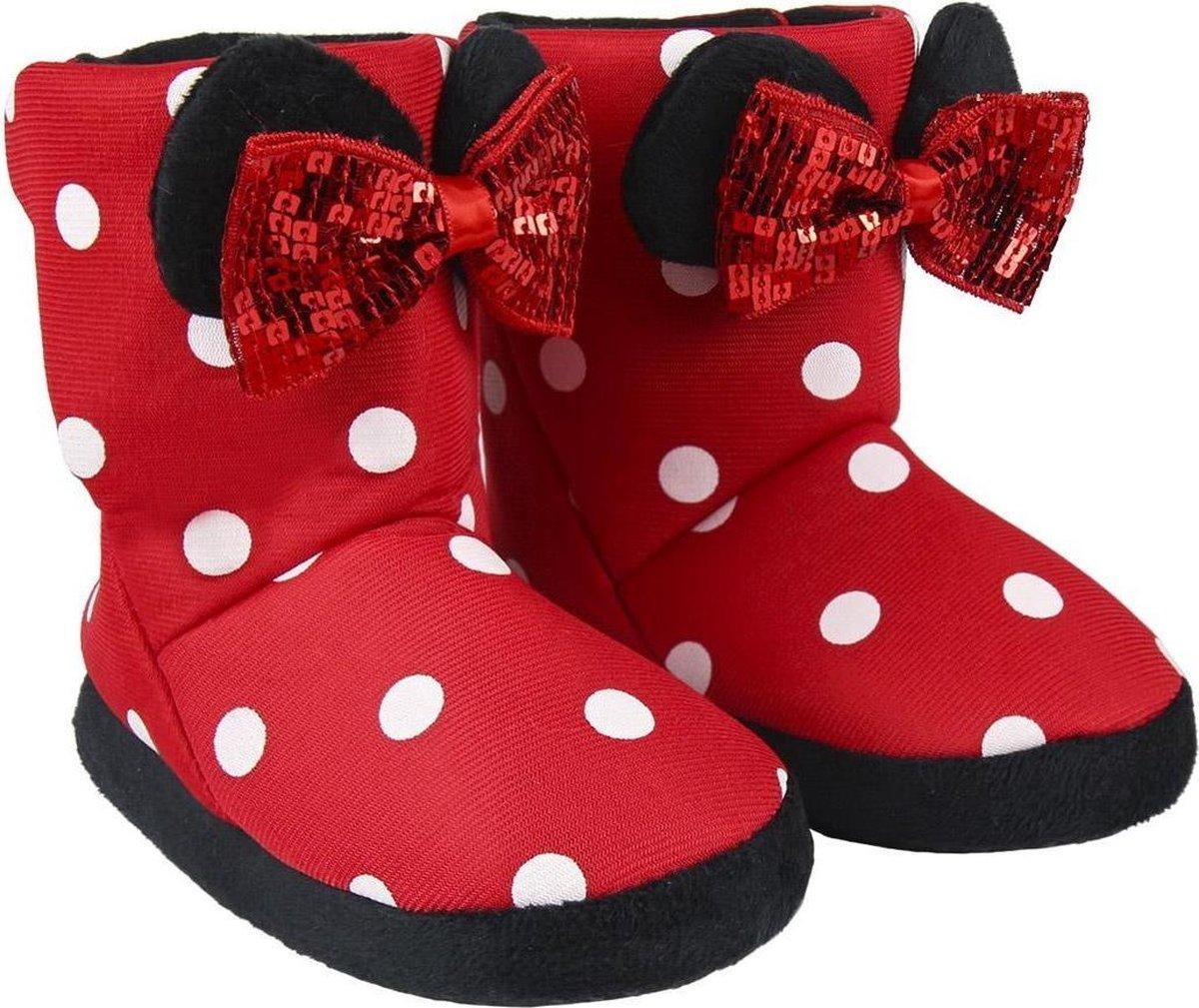 Disney Minnie Mouse - Hoge Sloffen - Rood