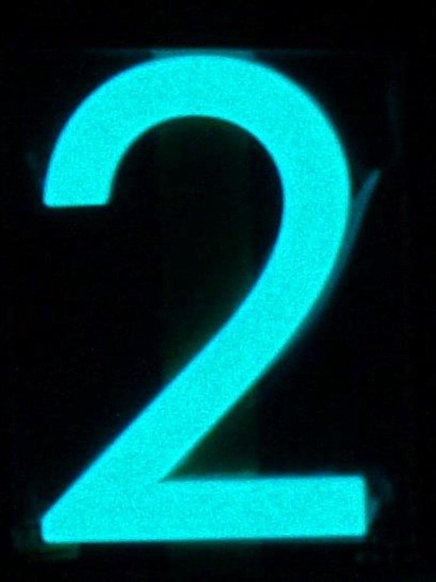 Huisnummer 2 Glow-in-the-dark 20R1