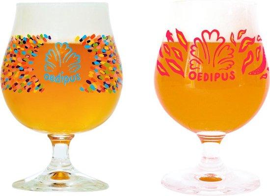 Oedipus speciaal bierglazen - 33cl - 6 stuks - 3x Goblet - 3x Thai Thai - voetglazen - bierpakket - cadeauset