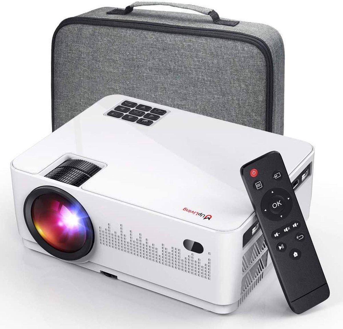 UpLiving  LCD Mini Beamer   1080P Full HD   6.000 ANSI-Lumen   Projector - Mini Beamer - Draagbare P