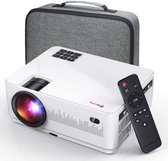 UpLiving™ LCD Mini Beamer | 1080P Full HD | 6.000 ANSI-Lumen | Projector - Mini Beamer - Draagbare Pocket Beamer - Afstandsbediening - Draagtas