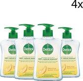 Dettol Handzeep - Citrusgeur verrijkt met 100% natuurlijke oliën - 250ML x4