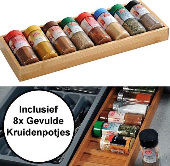 Bol Com Fsc Houten Kruiden Organizer Tray Voor Keuken La Opbergen Kruiden Specerijen