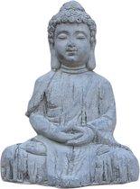 Boeddha Muts Klein 25x17x34cm - Boeddha Beeld - Beton Look Crème