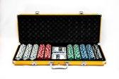 Texas' Finest Poker - Gouden Texas' Finest Pokerset - Gouden Aluminium Pokerkoffer - Gouden Pokerset volwassenen - 500 Casino kwaliteit Pokerfiches - 500 pokerchips - Pokersets - Poker set - Poker Kaarten -