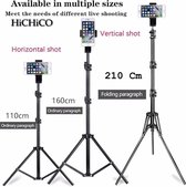 Smartphone Tripod Camera Statief 180 Cm + 360 ° Draaigreep, Telefoonhouder en Bluetooth Remote Shutter – HiCHiCO