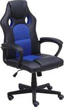 Alora Gaming Stoel LB-Racestoel blauw - Bureaustoel - Gaming Chair - Gamingstoel - Game Stoel - Game Chair - Kunstleer - Verstelbaar in hoogte - Gamestoel