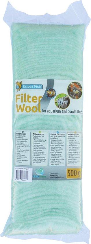 SuperFish Filterwatten Grof - Aquarium - Filter - Groen - 500 gr