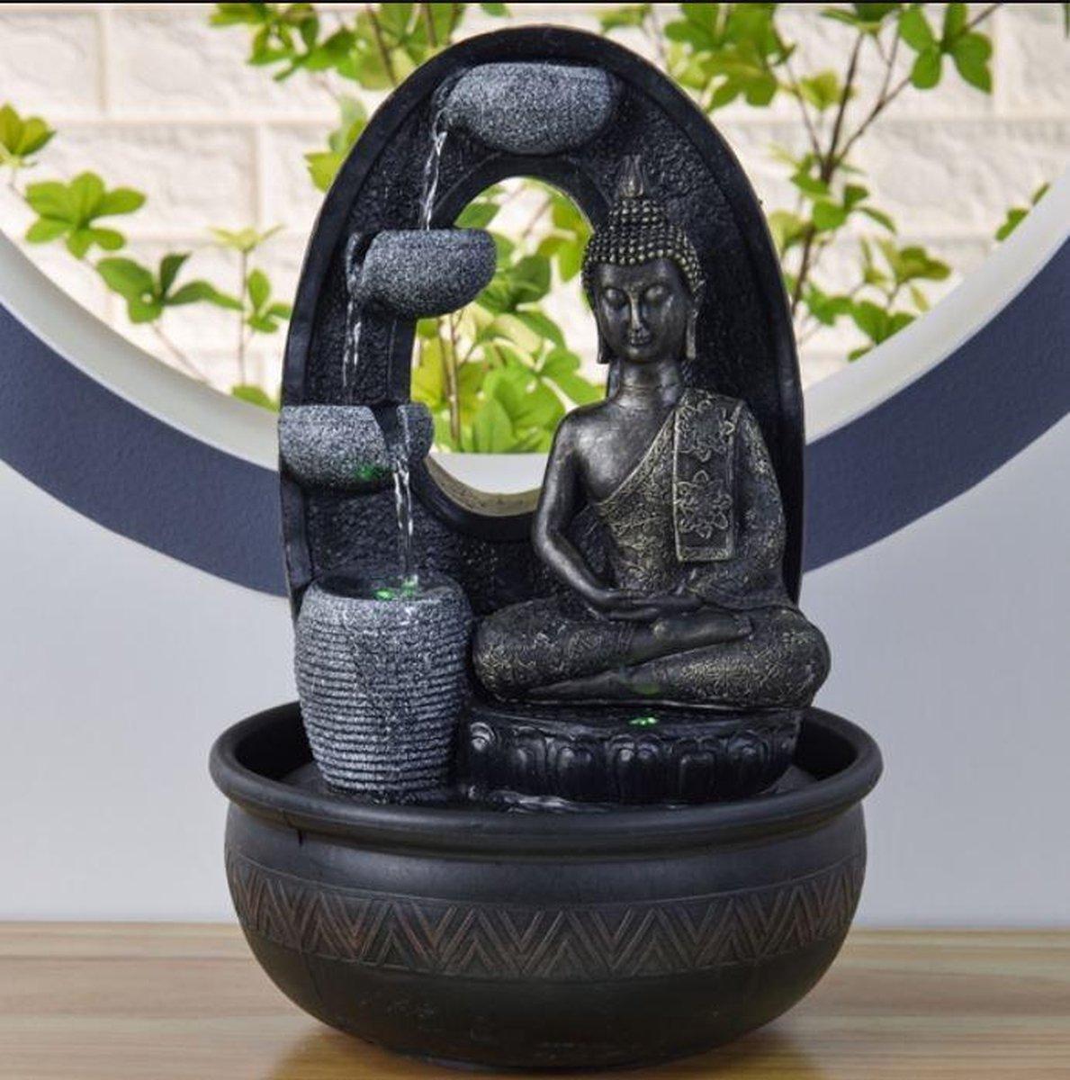 Boeddha Harmonie Relax - fontein - interieur - fontein voor binnen - relaxeer - zen - waterornament - cadeau - geschenk - relatiegeschenk - origineel - lente - zomer - lentecollectie - zomercollectie - afkoeling - koelte