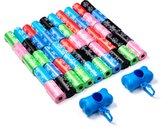 FEDEC Hondenpoepzakjes - 1000 stuks - Met 2 Dispensers - Multikleur